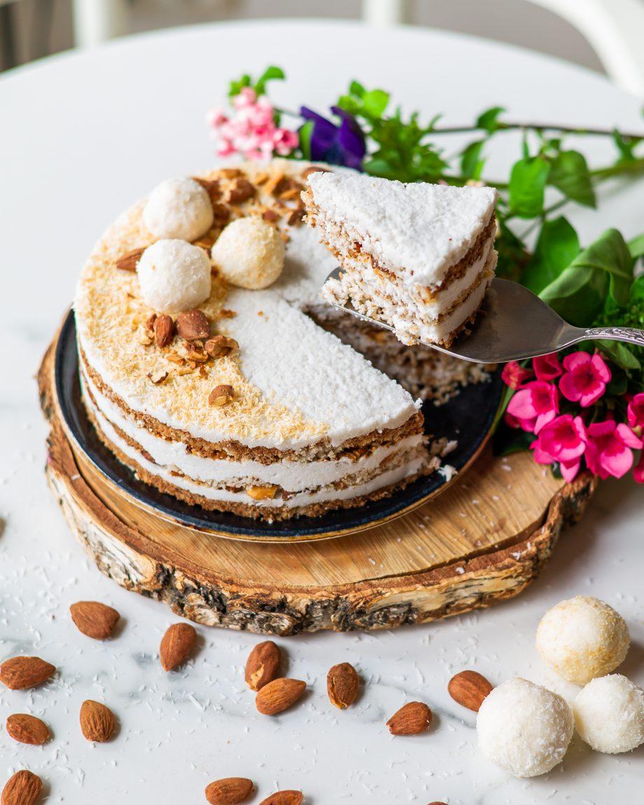 Veganiškas tortas rafaelo