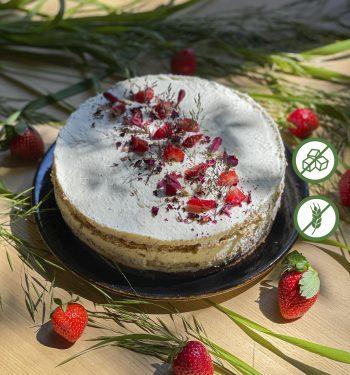 Dietinis tortas varškės žemuogių