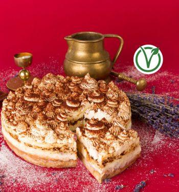 veganiškas tiramisu tortas