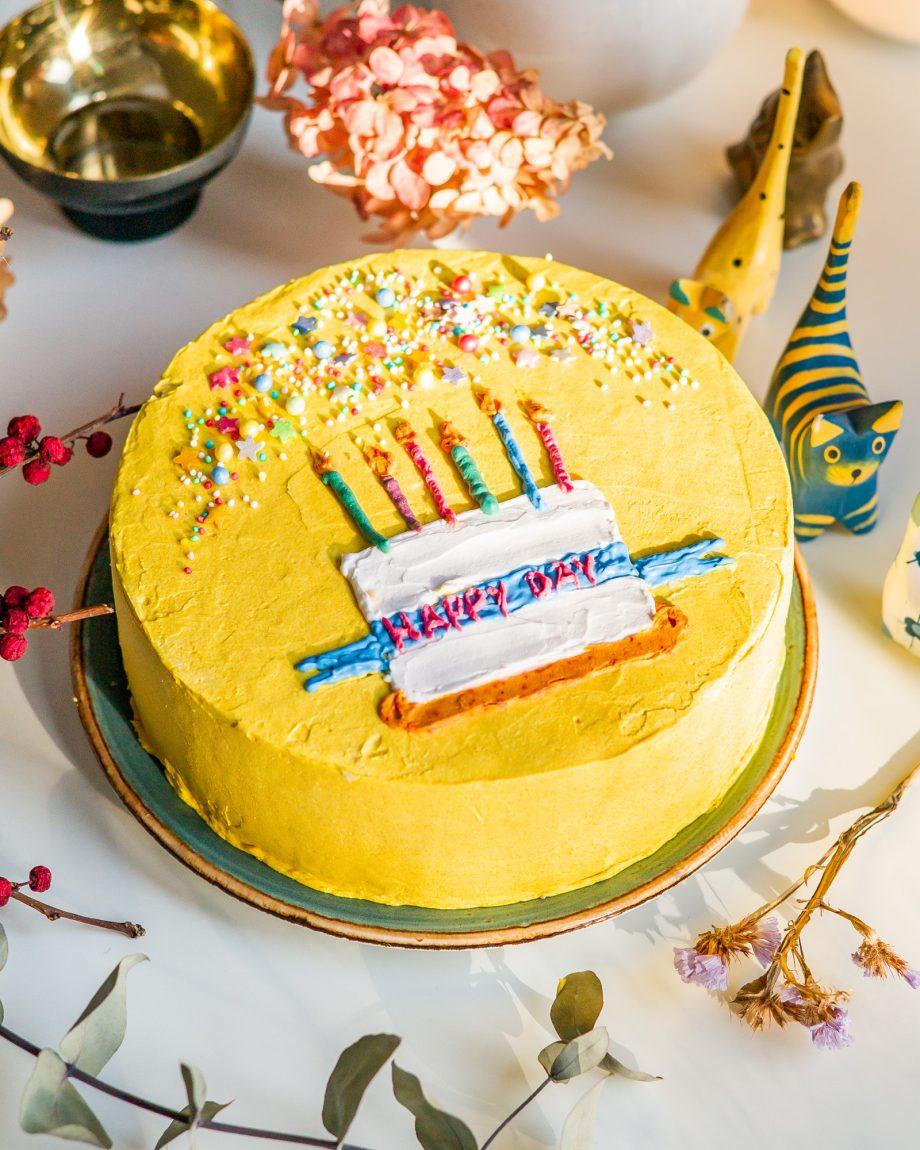 Natūralus papuošimas tortui
