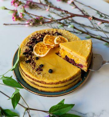 Apelsininis veganiškas tortas Delčia